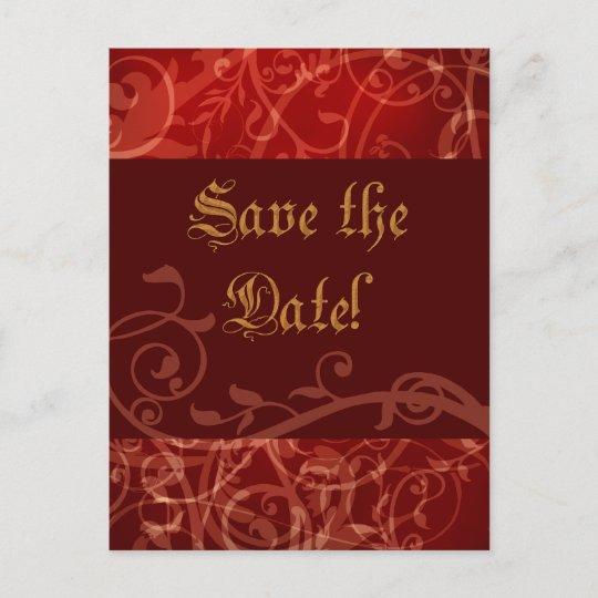 21026a5e884b Cinnamon Damask Gothic Wedding Shower Invitation
