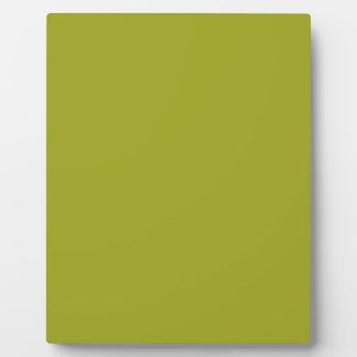 Cinnamon Green Solid Color Plaques