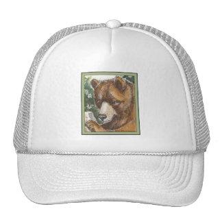 Cinnamon Grizzly Bear Mesh Hat