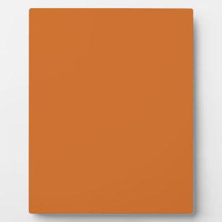 Cinnamon hex code D2691E Photo Plaques