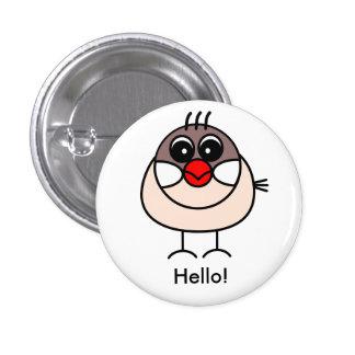 cinnamon Java sparrow Pinback Button