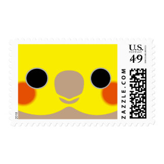 Cinnamon Male Cockatiel Postage Stamps