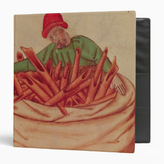 Cinnamon Merchant, from 'Tractatus de Herbis' 3 Ring Binder