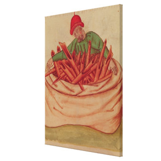 Cinnamon Merchant, from 'Tractatus de Herbis' Gallery Wrap Canvas