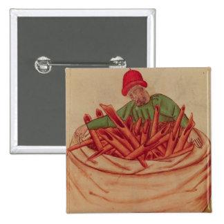 Cinnamon Merchant, from 'Tractatus de Herbis' Pinback Button