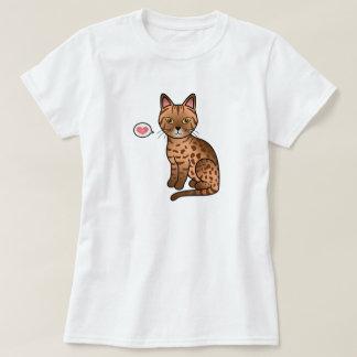 Cinnamon Ocicat Cat Love T-Shirt