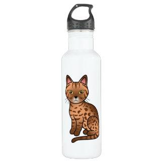 Cinnamon Ocicat Cat Stainless Steel Water Bottle