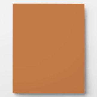 Cinnamon Orange Solid Color Display Plaques