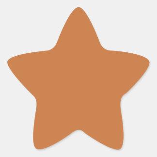 Cinnamon Orange Solid Color Star Sticker