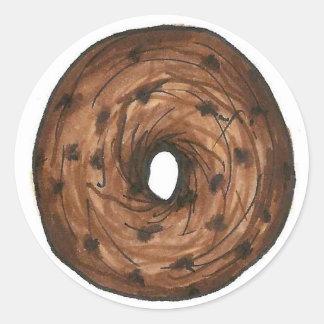 Cinnamon Raisin Bagel NYC Bagels Breakfast Food Classic Round Sticker