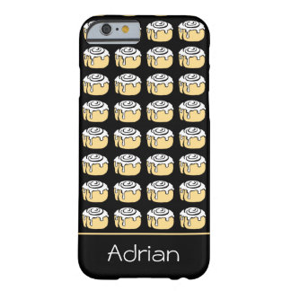 Cinnamon Roll Cartoon Design Funny Personalized Barely There iPhone 6 Case