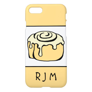 Cinnamon Roll Cartoon Design Personalized Monogram iPhone 8/7 Case