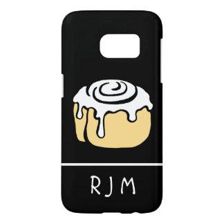 Cinnamon Roll Cartoon Design Personalized Monogram Samsung Galaxy S7 Case