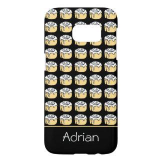 Cinnamon Roll Cartoon Funny Personalized Black Samsung Galaxy S7 Case