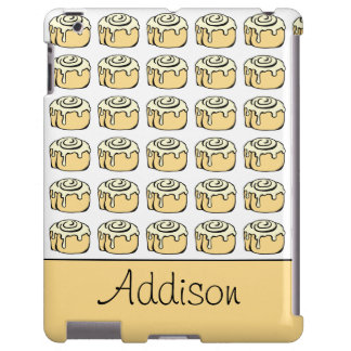 Cinnamon Roll Cartoon Funny Personalized iPad Case