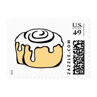 Cinnamon Roll Honey Bun Cartoon Design Cute Funny Postage Stamp