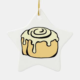 Cinnamon Roll Honey Bun Cartoon Design Funny Ceramic Ornament