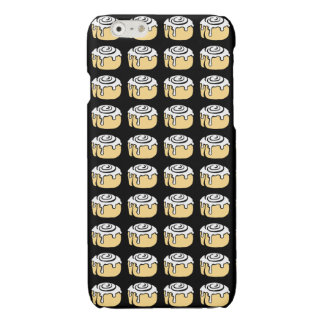 Cinnamon Roll Honey Bun Cartoon Design in Black Glossy iPhone 6 Case