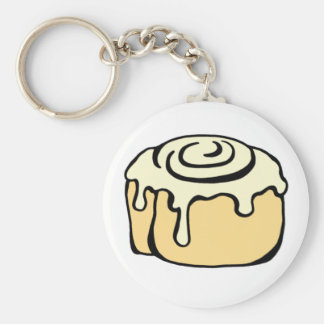 Cinnamon Roll Honey Bun Cartoon Design Keychain