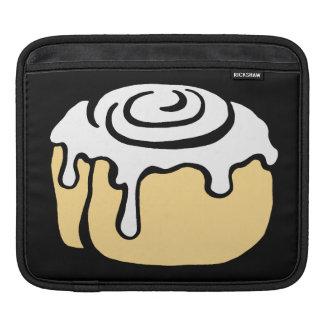 Cinnamon Roll Honey Bun Cute Cartoon Black iPad Sleeves