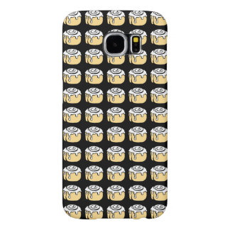 Cinnamon Roll Honey Bun Cute Cartoon Black Samsung Galaxy S6 Cases