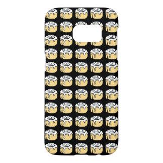 Cinnamon Roll Honey Bun Cute Cartoon Black Samsung Galaxy S7 Case