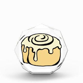 Cinnamon Roll Honey Bun Cute Cartoon Design Acrylic Award