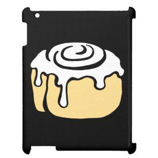 Cinnamon Roll Honey Bun Cute Cartoon Design Black Cover For The iPad