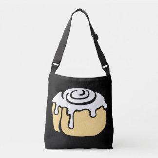 Cinnamon Roll Honey Bun Cute Cartoon Design Black Tote Bag