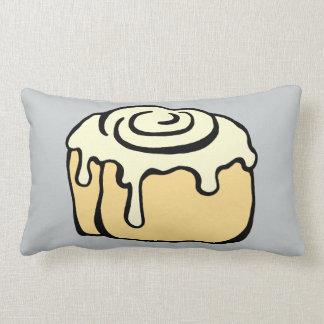 Cinnamon Roll Honey Bun Cute Cartoon Design Grey Pillow