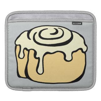 Cinnamon Roll Honey Bun Cute Cartoon Design Grey Sleeves For iPads