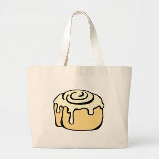 Cinnamon Roll Honey Bun Cute Cartoon Design Large Tote Bag