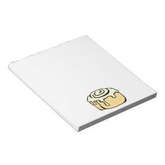 Cinnamon Roll Honey Bun Cute Cartoon Design Notepad