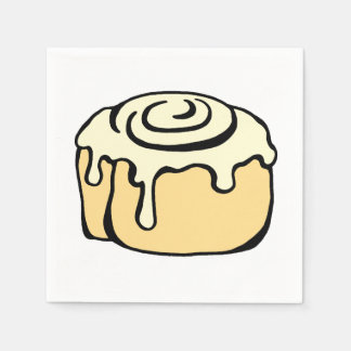 Cinnamon Roll Honey Bun Cute Cartoon Design Paper Napkin