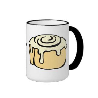 Cinnamon Roll Honey Bun Cute Cartoon Design Ringer Mug