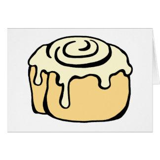 Cinnamon Roll Honey Bun Cute Cartoon Personalized Card
