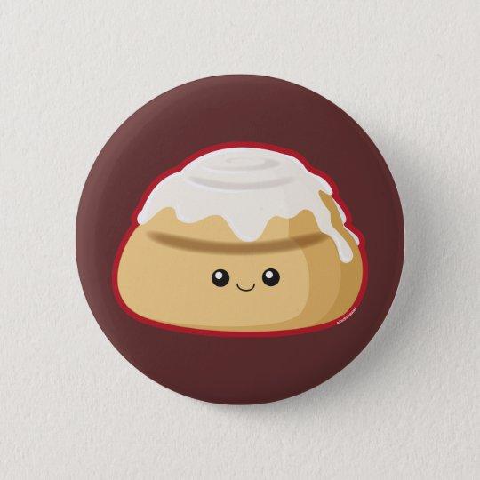 Cinnamon Roll Pinback Button