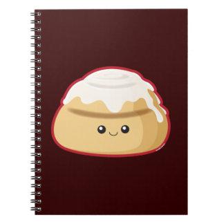 Cinnamon Roll Spiral Notebook