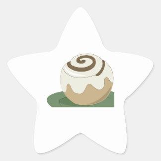 Cinnamon Roll Star Stickers