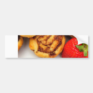 Cinnamon Rolls and Berries Bumper Sticker