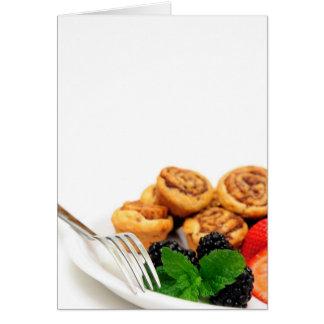 Cinnamon Rolls and Berries Card