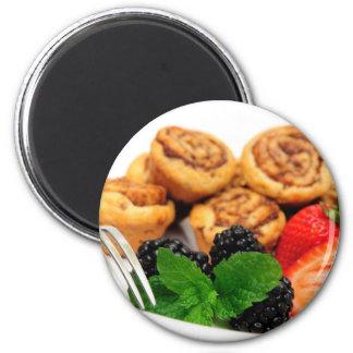 Cinnamon Rolls and Berries Magnet