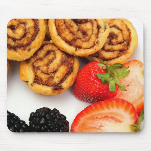 Cinnamon Rolls and Berries Mouse Pad