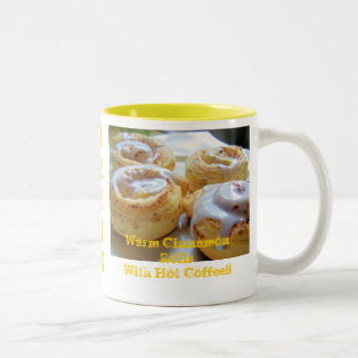 Cinnamon rolls and Coffee Two-Tone Coffee Mug