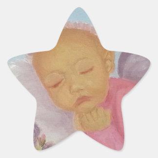 Cinnamon Rose Angel Baby Sticker
