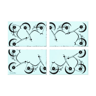 Cinnamon Shiva's ~ Pedals In Black And Blue Gallery Wrap Canvas