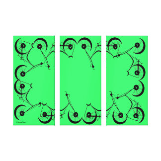 Cinnamon Shiva's ~ Pedals In Black And Green Gallery Wrap Canvas