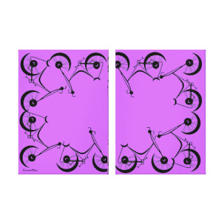 Cinnamon Shiva's ~ Pedals In Black And Lavender Stretched Canvas Print