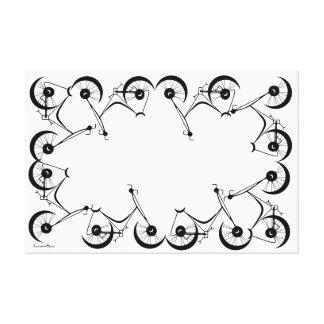 Cinnamon Shiva's ~ Pedals In Black And White Canvas Print