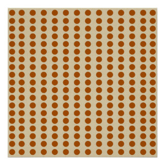 Cinnamon Spice Moods Dots Poster